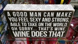 wine vs men plaque project idea