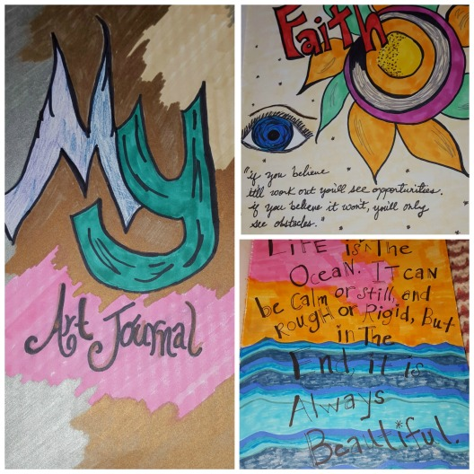 My Art Journal pages 1 thru 3